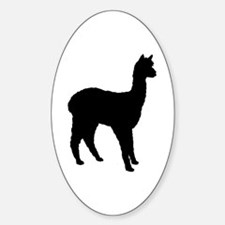 Standing Alpaca Oval Decal