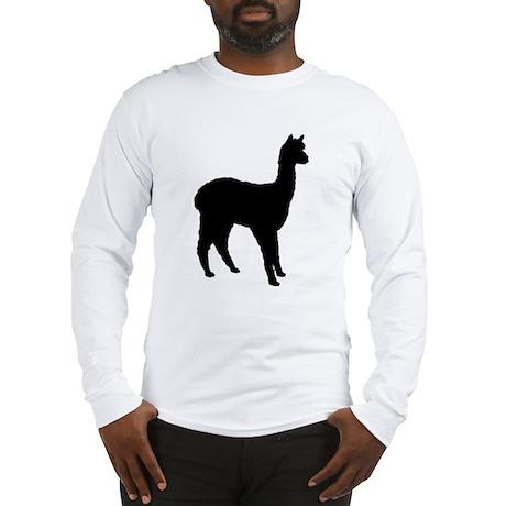 Standing Alpaca Long Sleeve T-Shirt