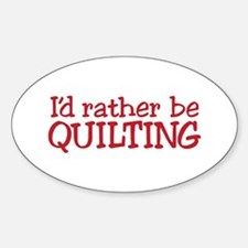 Quilting Text Decal