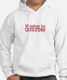Quilting Text Hoodie