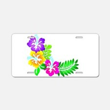Tropical Hibiscus Aluminum License Plate