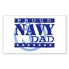 Proud Navy Dad Rectangle Decal