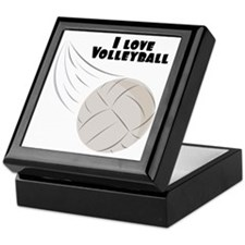 I Love Volleyball Keepsake Box