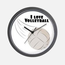 I Love Volleyball Wall Clock