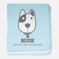 Cute Rescue animal baby blanket