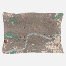 Vintage Map of London England (1862) Pillow Case