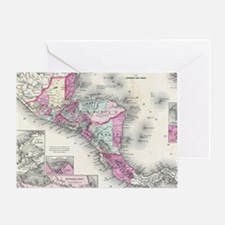 Vintage Map of Central America (1864 Greeting Card