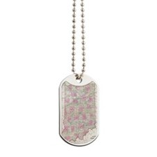 Vintage Map of Indiana (1864) Dog Tags