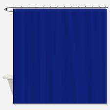 Rich Bold Blue Shower Curtain