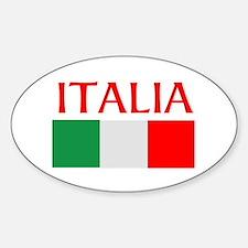 ITALIA FLAG Sticker (Oval)