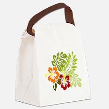 Hibiscus Dreams Canvas Lunch Bag