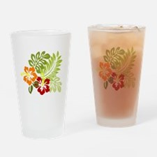 Hibiscus Dreams Drinking Glass