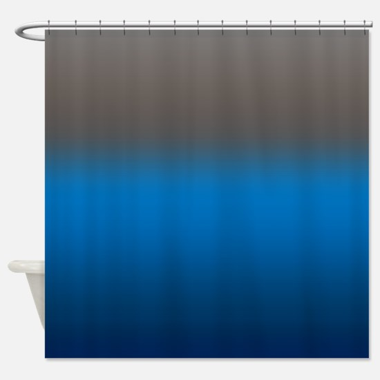 Contessa in Blue Shower Curtain