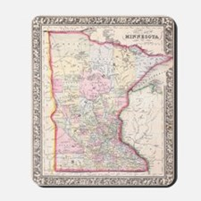 Vintage Map of Minnesota (1864) Mousepad