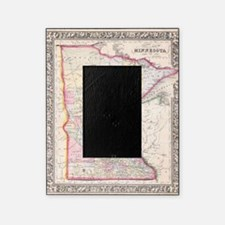 Vintage Map of Minnesota (1864) Picture Frame