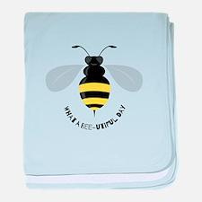 Bee-utiful Day baby blanket