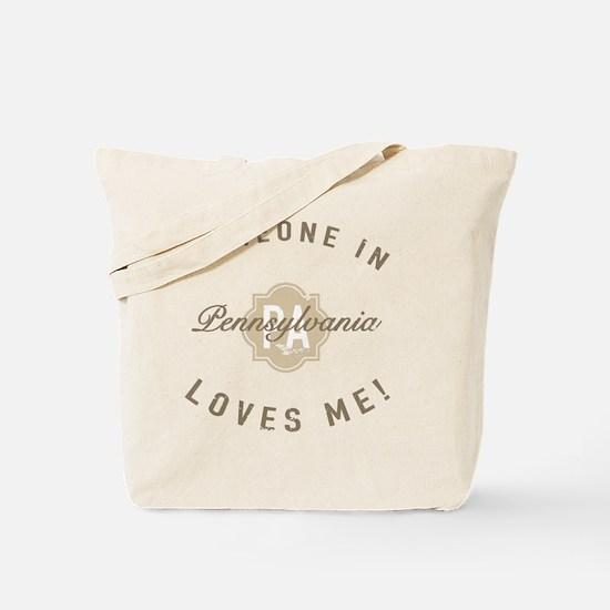 Someone In Pennsylvania Tote Bag