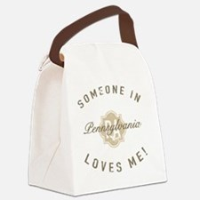 Someone In Pennsylvania Canvas Lunch Bag