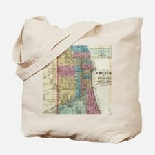 Vintage Map of Chicago (1869) Tote Bag