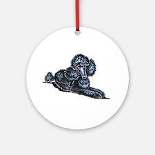 Black Mini Lay Pretty Ornament (Round)