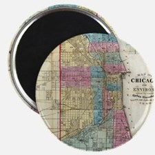 Vintage Map of Chicago (1869) Magnet
