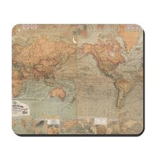 Vintage Map of The World (1870) Mousepad
