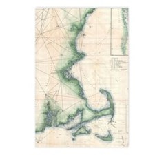 Vintage map of the Massac Postcards (Package of 8)