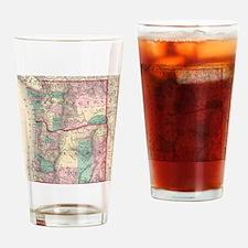 Vintage Map of Washington and Orego Drinking Glass