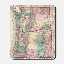Vintage Map of Washington and Oregon (18 Mousepad