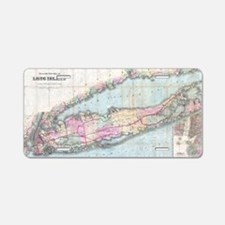 Vintage Map of Long Island  Aluminum License Plate
