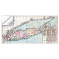Vintage Map of Long Island (1880) Wall Decal