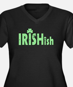 IRISHish - Somewhat Irish Women's Plus Size V-Neck