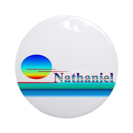 Nathaniel Ornament (Round)