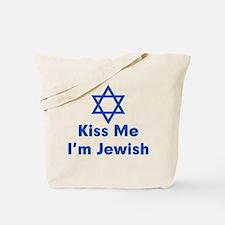 Kiss Me I'm Jewish Tote Bag