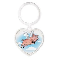 Funny Oink Heart Keychain