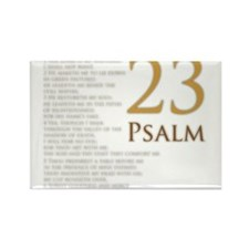 Cute Psalms 23 Rectangle Magnet