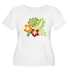 Hibiscus Dreams Plus Size T-Shirt