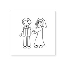 Bride & Groom Outline Sticker