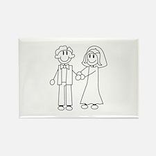 Bride & Groom Outline Magnets