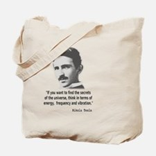 Quote By Nikola Tesla Tote Bag