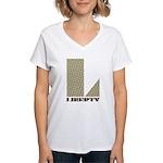 Liberty, Ohio Women's V-Neck T-Shirt