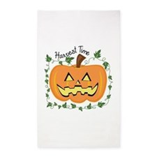 Harvest Time Carved Pumpkin Area Rug