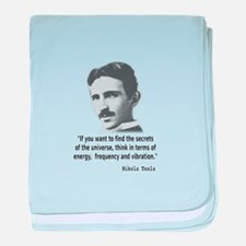 Quote By Nikola Tesla baby blanket