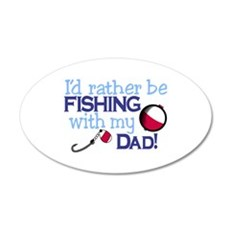 Fishing with Dad Wall Decal