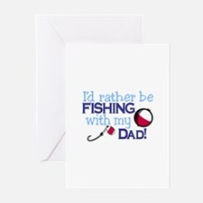 Fishing with Dad Greeting Cards