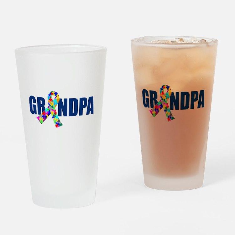 Autism Grandpa Drinking Glass