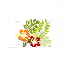 Hibiscus Dreams Aluminum License Plate