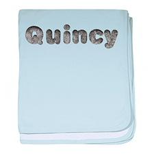 Quincy Wolf baby blanket