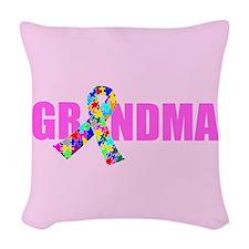 Autism Grandma Woven Throw Pillow