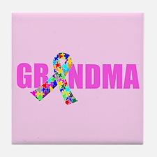 Autism Grandma Tile Coaster